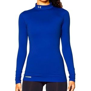 Under Armour Coldgear Mock Neck Top Small